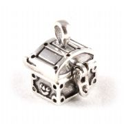 Opening Treasure Chest 3D Sterling Silver Charm